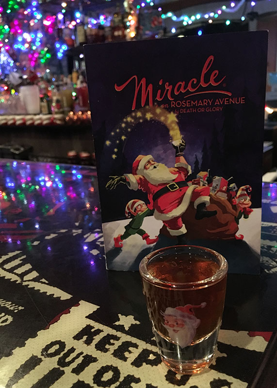 Naughty Shot at Miracle on Rosemary. (Atomic Grog photo, December 2018)