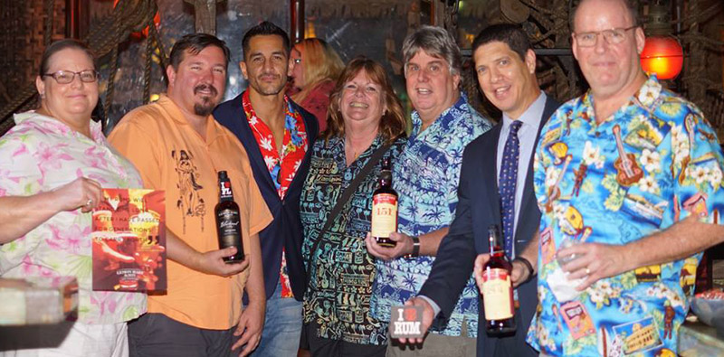 Fraternal Order of Moai members joined forces with Lemon Hart Rum for a special happy hour event at The Mai-Kai in September.