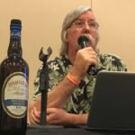 Author and rum expert Ed Hamilton, an importer who operates as Caribbean Spirits Inc., talks about one of his new products during a discussion of how the rum market has changed since the 1990s