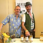 Representatives from Mezan show off their acclaimed single-vintage rums