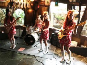 The Surfrajettes perform in The Molokai bar at The Mai-Kai during The Hukilau on June 10, 2017
