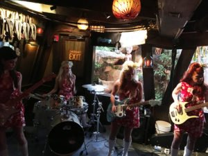 The Surfrajettes play a happy hour set during The Hukilau's Saturday main event at The Mai-Kai in Fort Lauderdale on June 10, 2017