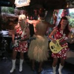 Crazy Al Evans gets wild with The Surfrajettes in The Molokai bar at The Mai-Kai during The Hukilau 2017