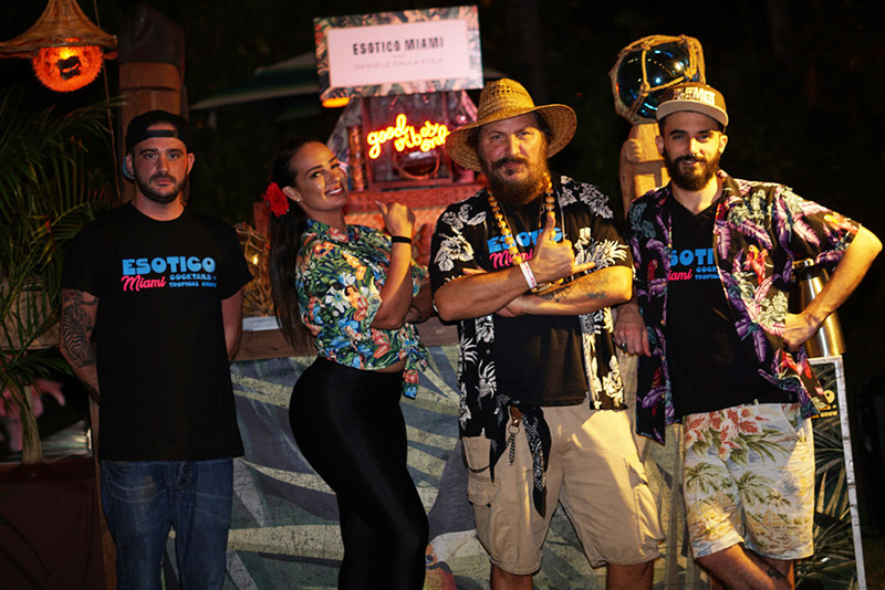 Daniele Dalla Pola (second from right) and his team from Esotico, a new Tiki bar that will be opening soon in the heart of Miami's Arts + Entertainment District