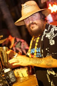 Esotico partner Daniele Dalla Pola is a veteran Tiki bartender who formerly worked for Bacardi in Miami and owns Nu Lounge Bar in Bologna, Italy