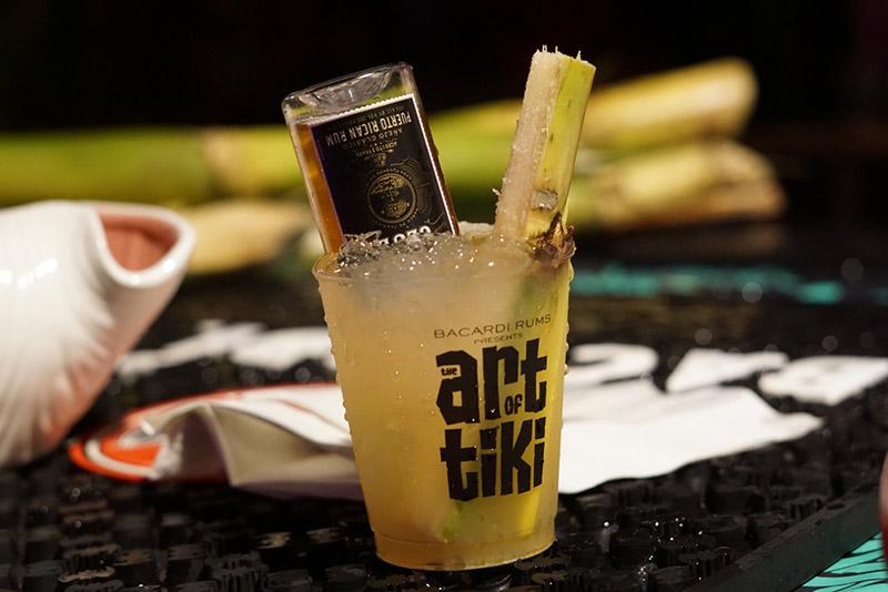 Minibar's Man-Go Get the Pilot features Bacardi's Havana Club rums plus some creative garnish