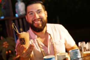 Andres Rairan from The Social Club at The Surfcomber presents The Pua Ali'i cocktail