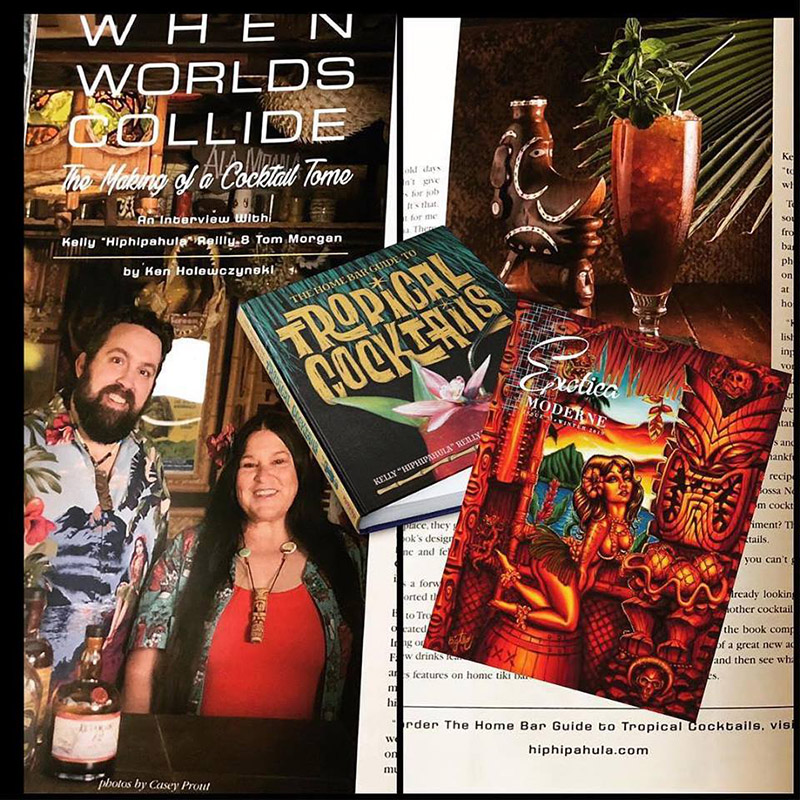 "The new book by Kelly ""Hiphipahula"" Reilly and Tom Morgan, profiled on the new issue of Exotica Moderne magazine, pays homage to the Tiki home bartending community."