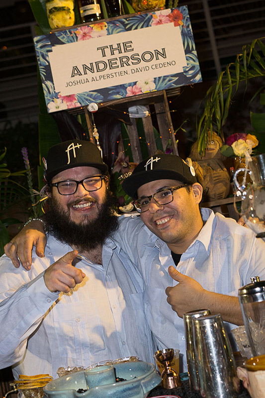 Joshua Alperstein (right) and David Cedeno from The Anderson in Miami