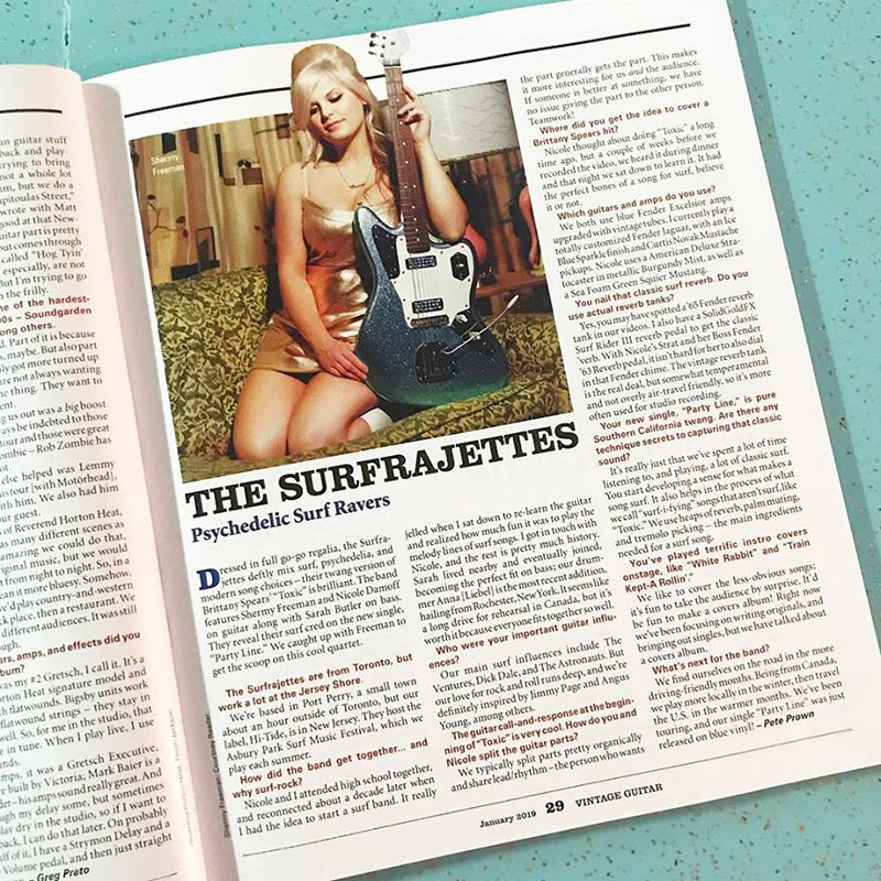 Shermy Freeman recently appeared in a feature in Vintage Guitar Magazine