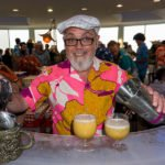 Cocktail legend Brother Cleve from Boston is happy to be at his first Tiki Tower Takeover, serving up The Natal Queen. (Photo by Jim Neumayer)