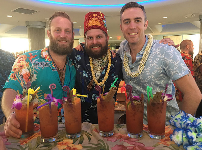 Back for their second Tiki Tower Takeover, the crew from Chicago's Three Dots and a Dash (Aiden Dillon, Cory Starr and Kevin Beary) serves up their take on the classic Zombie. (Atomic Grog photo)
