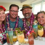 Villagers at the fourth Tiki Tower Takeover have plenty of cocktails to sample. (Photo by Heather McKean)