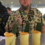 Scotty Schuder of Dirty Dick presents the Pandan Pain Killer. (Atomic Grog photo)