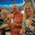 Fort Lauderdale locals Hans and Jill Reipsa (left) join The Mai-Kai's Pia Dahlquist for cocktails and good times. (Photo by Hukilau Mike)