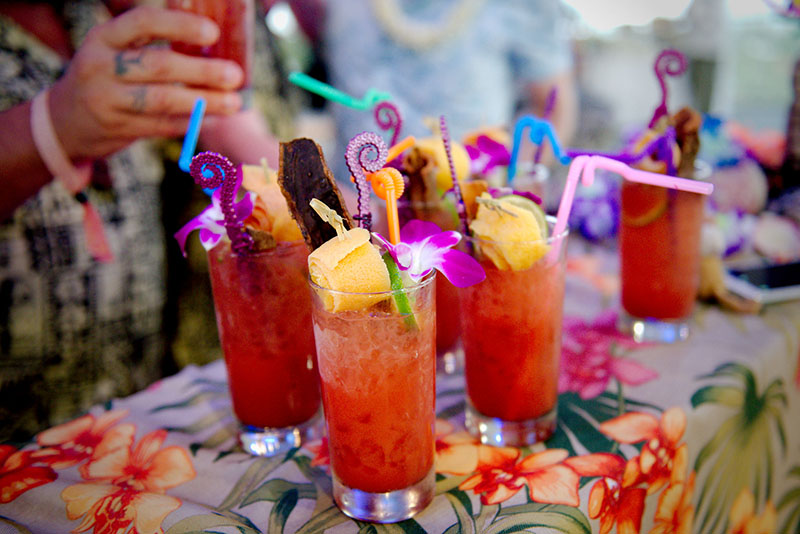 Three Dots and a Dash went all-out with the garnish on the Zombie. (Photo by Hukilau Mike)
