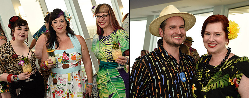 Villagers are always dressed in their Tiki finest for The Hukilau's Tiki Tower Takeover. (Photos by Heather McKean)