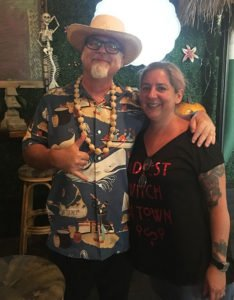 "Death or Glory co-owner and mixologist Ayme Harrison welcomes author and cocktail historian Jeff ""Beachbum"" Berry to her award-winning restaurant's Tiki bar in October 2018. The longtime participant at The Hukilau will make her first appearance at the Tiki Tower Takeover in 2019."