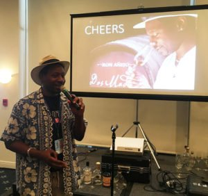 Global rum ambassador Ian Burrell, founder of The UK RumFest, presented his first $1,000 Rum Tasting at The Hukilau in 2018. (Photo by Hurricane Hayward)