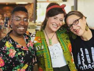 From left: Shannon Mustipher, Jeanie Grant and Marie King at the first Arizona Tiki Oasis last weekend in Scottsdale. (Instagram photo by Nicholas Feris)