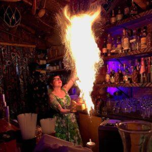 Sierra Kirk works her magic at Hale Pele. (Photo by Dan Faris / Facebook)