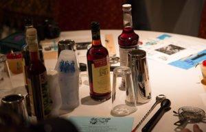 Students receive ingredients to make their own Mai-Kai cocktails.