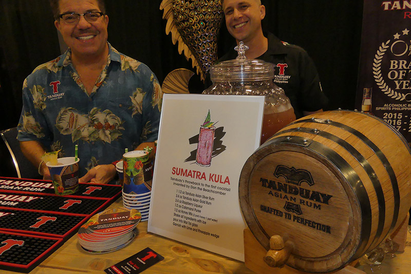 Tanduay from the Philippines won several awards and also served up tasty cocktails. (Rum Renaissance Festival)
