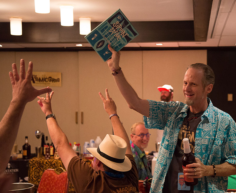 "The grand prize is a copy of ""Beachbum Berry's Sippin' Safari"" (10th anniversary edition), which goes to the creator of the winning cocktail."