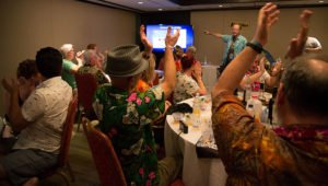 At the end of the class, Hurricane Hayward announces extra-curricular activities on Sunday at The Mai-Kai including a free tour and exclusive cocktail. Mahalo to all the students ... you rule!