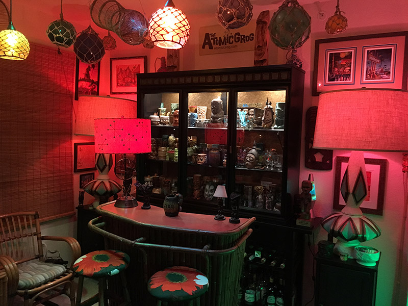 The Atomic Grog home bar, October 2018. (Photo by Hurricane Hayward)