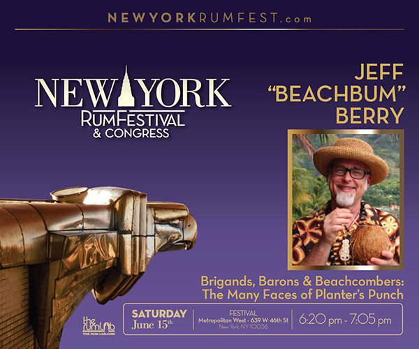 Beachbum Berry at the New York Rum Festival