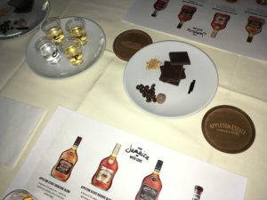 Joy Spence led attendees at a special Appleton Estate Rum event at The Mai-Kai on a 'sensory journey' via the aromas of unaged and aged rums (upper left), along with many of the flavors in her distinctive rums, including coffee, chocolate and vanilla