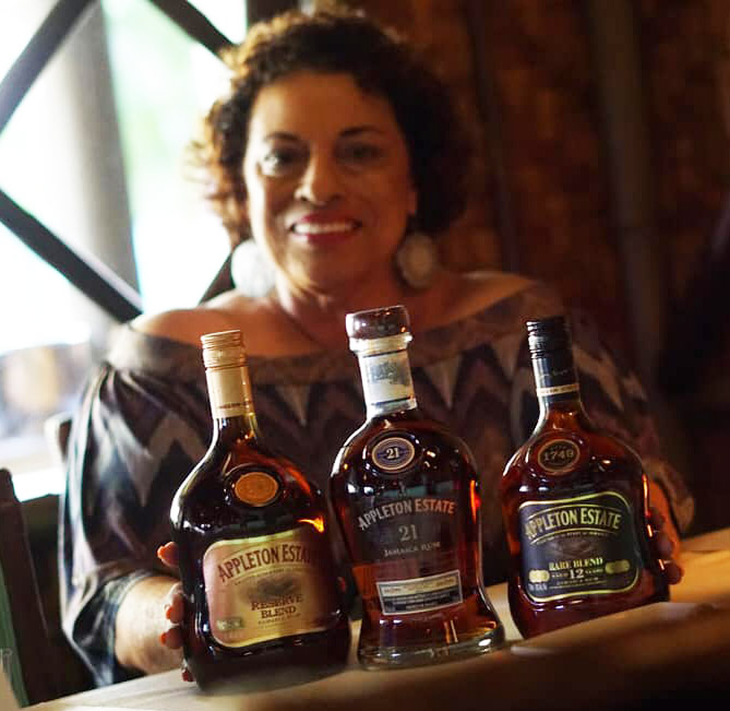Master blender Joy Spence shows off some of Appleton Estate's premium range of rums before a tasting event at The Mai-Kai on Aug. 14, 2019