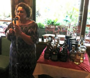 Appleton Estate master blender Joy Spence speaks to an enthusiastic group of rum enthusiasts at The Mai-Kai in Fort Lauderdale on Aug. 14, 2019