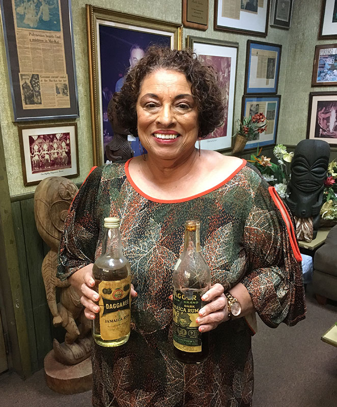 When Appleton Estate master blender Joy Spence visited The Mai-Kai in November 2018, she found some historic rums from her distillery's past. (Photo by Hurricane Hayward)
