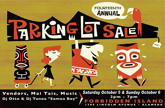 14th annual Parking Lot Sale at Forbidden Island
