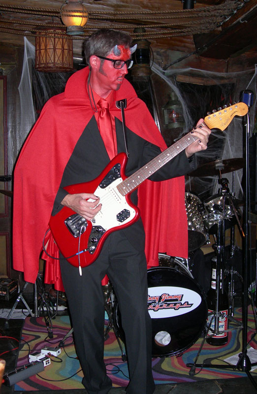 Skinny Jimmy Stingray performs with his band at Hulaween, The Mai-Kai's annual Halloween party, in October 2013