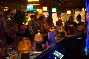 The Molokai bar filled up early and stayed packed all night for Hulaween 2018.