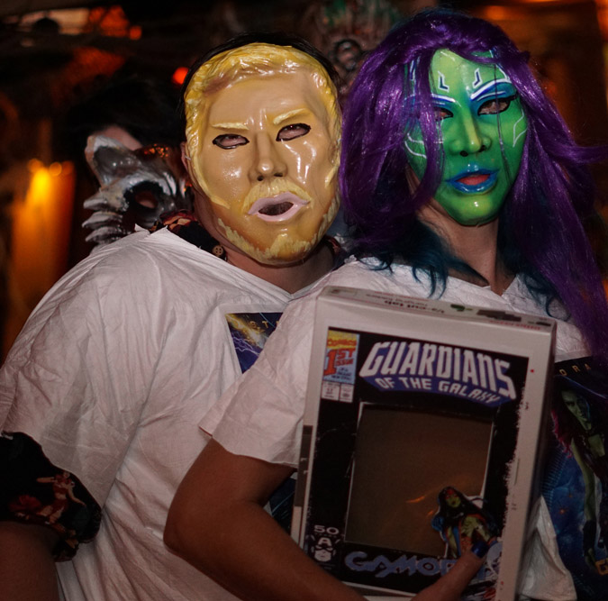 It was nice to see Star-Lord and Gamora drop in from another galaxy for Hulaween 2018.