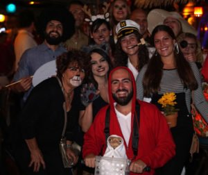 Elliott and E.T. are among the many partygoers at Hulaween 2018.