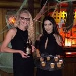 Appleton Estate reps promote their rum with free Mai Tai samples.