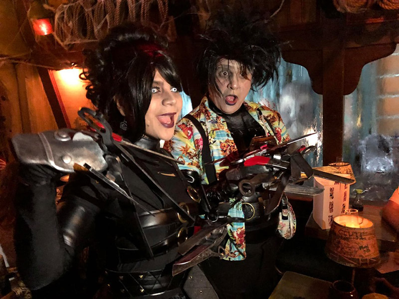 Edward Scissorhands brings his new bride to The Mai-Kai, not realizing a party is in progress.