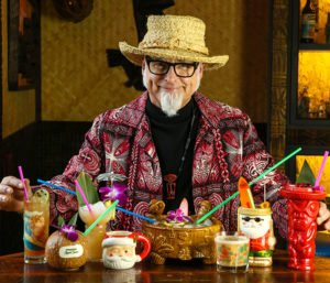 "Cocktail historian and author Jeff ""Beachbum"" Berry has created a tikified winter wonderland for his holiday pop-up bar, Sippin' Santa. (SippinSantaPopUp.com)"