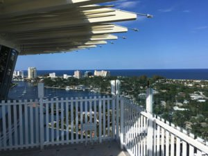 A view of Fort Lauderdale Beach from the top of the 17th floor ballroom at Pier Sixty-Six in June 2019. Now undergoing renovations, the hotel was the site of The Hukilau for five straight years. (Atomic Grog photo)