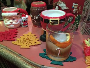 The Atomic Grog's Nutty Old Fashioned is a festive holiday drink featuring rum, nutmeg syrup and walnut bitters. (Photo by Hurricane Hayward, December 2019)