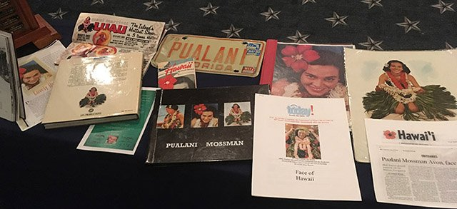Memorabilia celebrating the life of Pualani Mossman Avon, an acclaimed Polynesian dancer who inspired the song Lovely Hula Hands