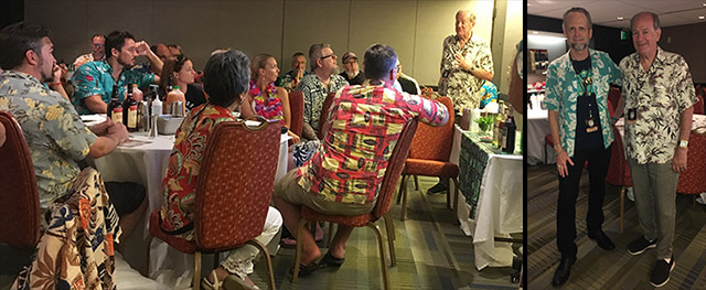 Rum collector Stephen Remsberg shares stories of tasting mid-century rums and cocktails during The Rums of The Mai-Kai class hosted by Hurricane Hayward and The Atomic Grog at The Hukilau 2019