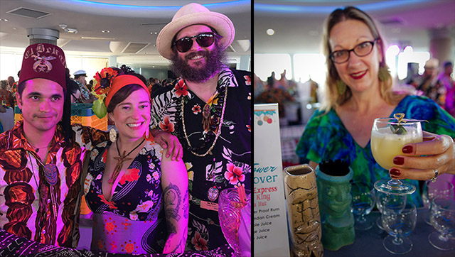 Pop-up bars at The Hukilau 2019 included Pagan Idol (with bartenders Jeanie Grant and Doc Parks), and Tonga Hut (featuring Marie King)