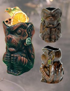 Keko Pupule - Tattoo Monkey Mug, produced by Tiki Farm for Esotico Miami.