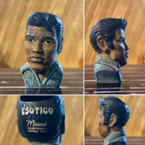 "The ""Blue Summer Edition"" of King Ta Moko, Esotico's exclusive Elvis mug"